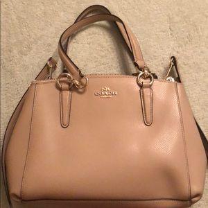 Coach handbag with handles and strap